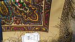 Чарівниця 992-0, павлопосадский хустку (шаль) з ущільненої вовни з шовковою бахромою в'язаної, фото 7