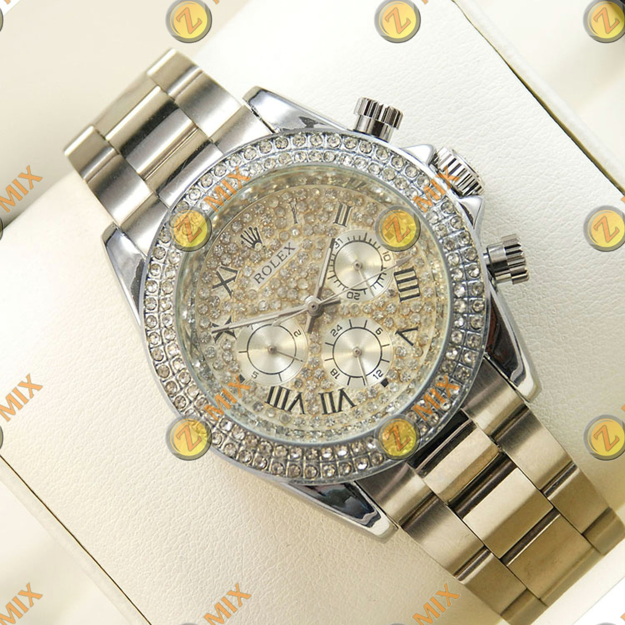 Часы Rolex Daytona Women Crystal Silver - Интернет-магазин