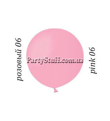 Шар Гигант Gemar G150 Розовый пастель (48 см) 50 шт