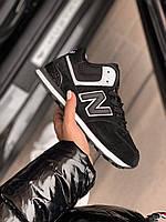 Зимние женские кроссовки New Balance 574 НА МЕХУ, фото 1