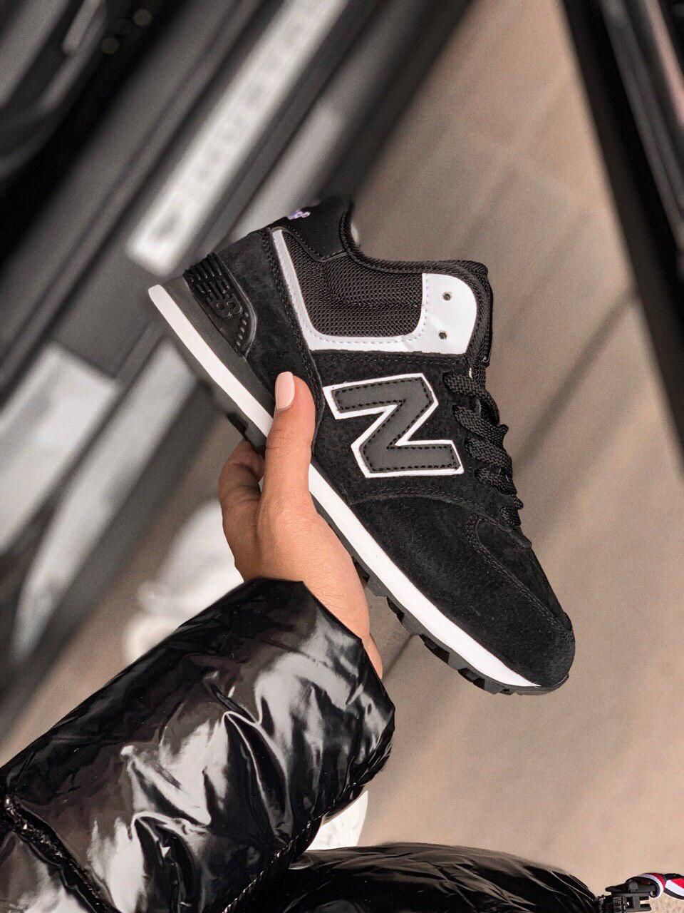 Зимние женские кроссовки New Balance 574 НА МЕХУ