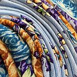 Цветы для души 1870-13, павлопосадский платок шерстяной (разреженная шерсть) с швом зиг-заг, фото 3