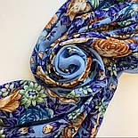 Цветы для души 1870-13, павлопосадский платок шерстяной (разреженная шерсть) с швом зиг-заг, фото 4