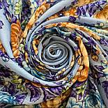 Квіти для душі 1870-13, павлопосадский хустку вовняної (розріджена шерсть) з швом зигзаг, фото 8