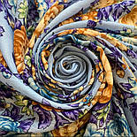 Цветы для души 1870-13, павлопосадский платок шерстяной (разреженная шерсть) с швом зиг-заг, фото 8