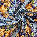 Цветы для души 1870-13, павлопосадский платок шерстяной (разреженная шерсть) с швом зиг-заг, фото 7