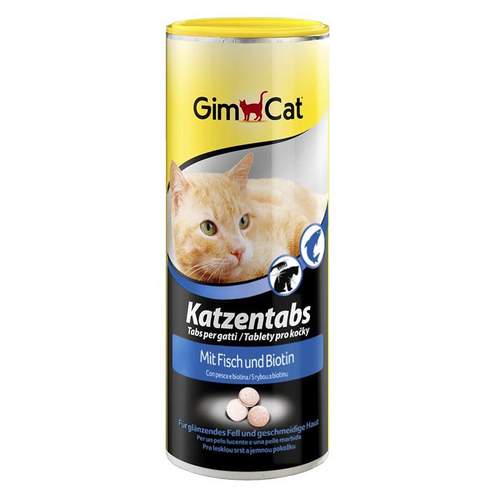 Витамины для кошек с рыбой и биотином GimCat Katzentabs 710 шт.