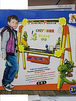 Детский двухсторонний мольберт настольный  G008A (строители), фото 1
