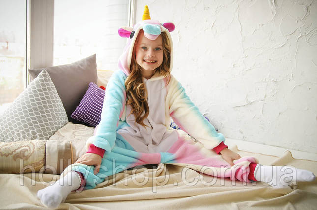 Детская Пижама кигуруми Единорог радужный, фото 2