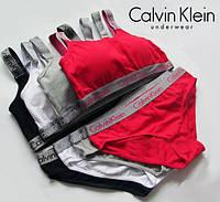 Комплект Calvin Klein Radiant топ трусы - слипы  Реплика