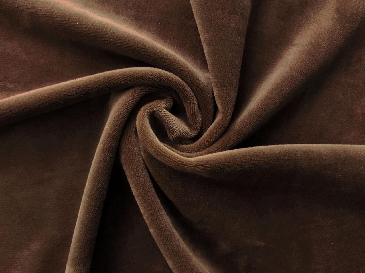 Мех на трикотаже, коричневый