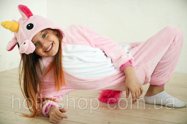 Детская Пижама кигуруми Единорог розовый, фото 2