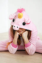 Детская Пижама кигуруми Единорог розовый, фото 3