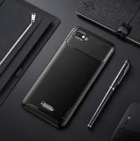 Стильный чехол для Xiaomi Redmi 6A (с карбоновым покрытием) /накладка для Ксиоми редми 6А/сяоми/