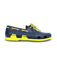 Мокасины Crocs мужские Beach Line Boat Shoe синие 44 разм.