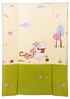 Пеленатор мягкий Ceba Baby CE-102 для пеленальных комодов  winnie the pooh беж - салат