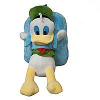 Рюкзак дошкольный со съемной игрушкой утенок меховой дошкольный голубой (GS810), фото 1