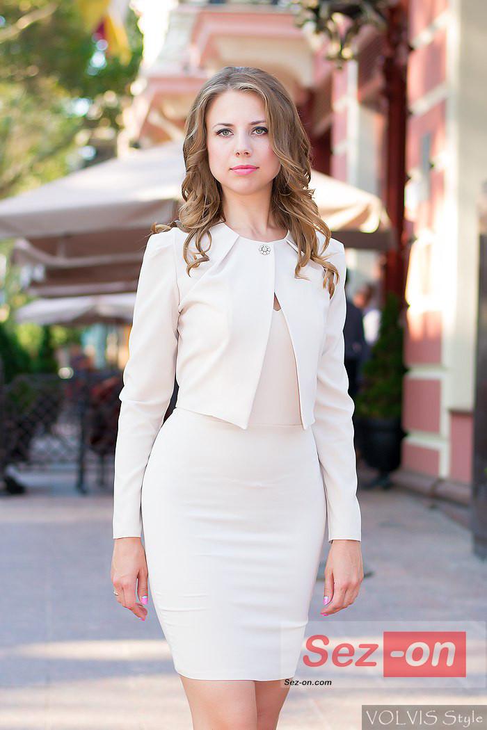 Пиджак женский с платьем фото