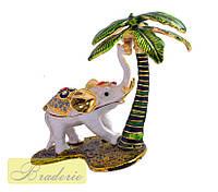Шкатулка ювелирная Слон с пальмой 2909-003