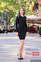 Костюм женский платье и короткий пиджак - Черный
