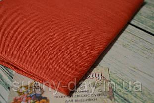 Тканина рівномірного плетіння Permin 076/243 Riviera Coral/кораловий, 28 каунт
