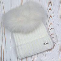 Шапка зимняя женская теплая, фото 1