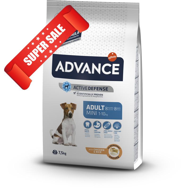 Сухой корм для собак Advance Mini Adult 7,5 кг