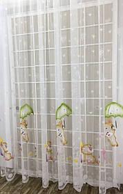 """Детская тюль """"Зонтики"""", 3 метра"""