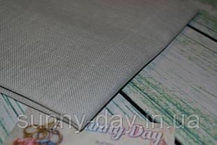 Тканина рівномірного плетіння Permin 076/320 Graceful Grey/сірий, 28 каунт