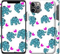 "Чехол на iPhone 11 Pro Max Слоники ""4541c-1723-25032"""