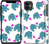 "Чехол на iPhone 11 Слоники ""4541c-1722-25032"""