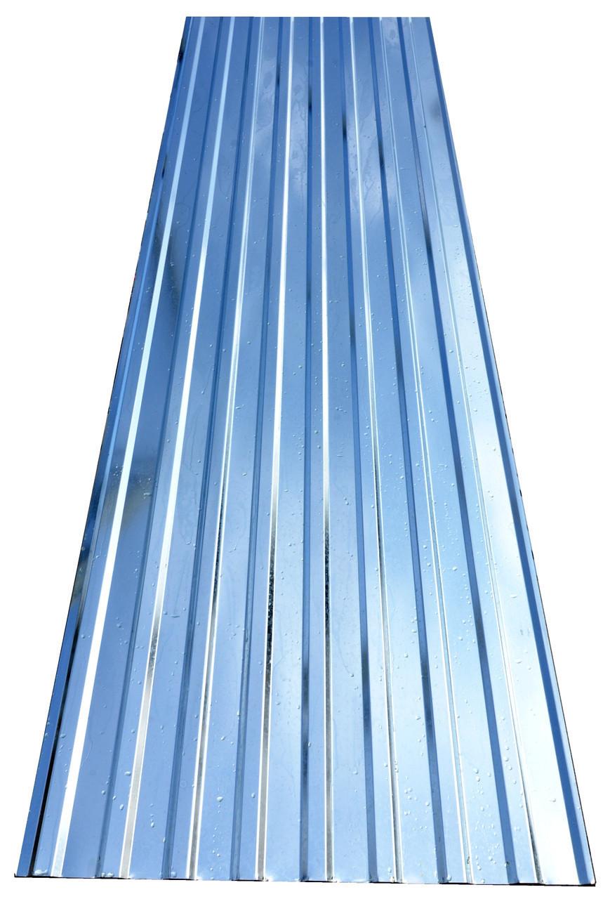 Профнастил ПС-12 0,45 мм, НЕКОНДИЦИЯ оцинкованный 3-х метровый 2.85 м/кв,