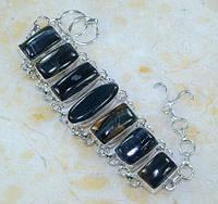 Серебряной браслет с соколиным глазом  от LadyStyle.Biz