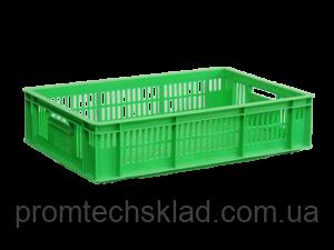Ящик пластиковый 600х400х140 зеленый