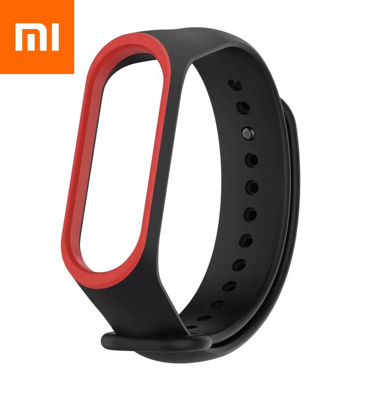 Ремешок для Xiaomi Mi Band 4 Черно-Красный Оригинальное Качество