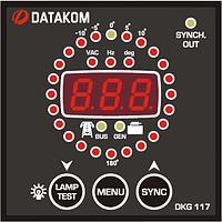 DATAKOM DKG-117, 72x72mm Контроллер синхронизации с контрольным реле