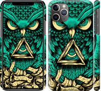 "Чехол на iPhone 11 Pro Max Сова Арт-тату ""3971c-1723-25032"""