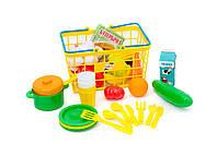Игровой набор ПИКНИК - корзина с продуктами и посудой.