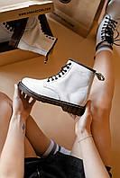 Зимние кожанные ботинки Мартинс DR. Martens (НА МЕХУ), фото 1