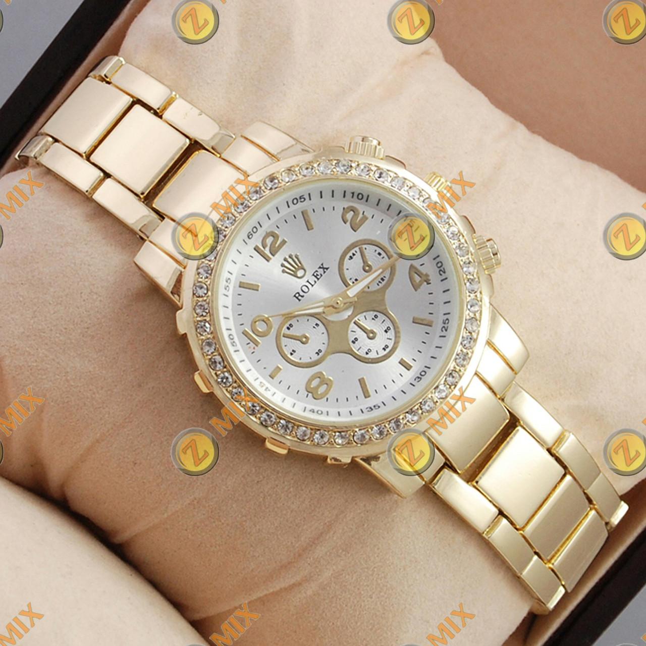 Часы Rolex Diamonds Gold Silver - Интернет-магазин