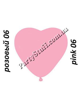 шарик розовый в форме сердца 6 дюймов