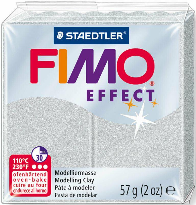 Пластика Effect, Серебрянная металлик, 57 г, Fimo