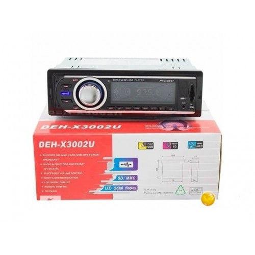 Автомагнитола MP3 ISO DEH-X3002U USB, SD, FM, AUX с радиатором и пультом, с евро разъемом и куллером