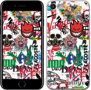 """Чехол на iPhone 7 Many different logos """"4022c-336-25032"""""""