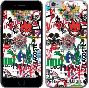 """Чехол на iPhone 6s Many different logos """"4022c-90-25032"""""""
