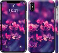 """Чехол на iPhone XS Пурпурные цветы """"2719c-1583-25032"""""""