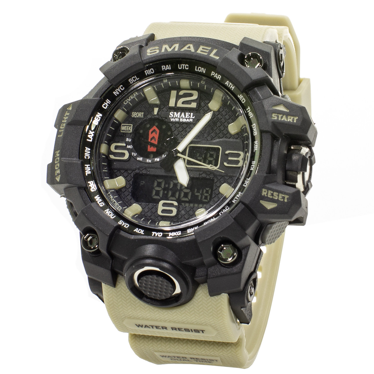 Мужские часы Smael 1545 Black-White (3095-8701)
