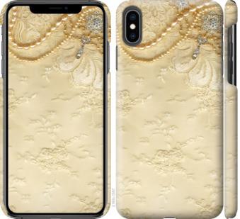 "Чехол на iPhone XS Max Кружевной орнамент ""2160c-1557-25032"""