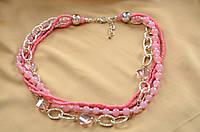 Ожерелье из розового коралла Прекрасная леди