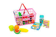 Игровой набор СУПЕРМАРКЕТ - корзина с продуктами, овощами и фруктами.